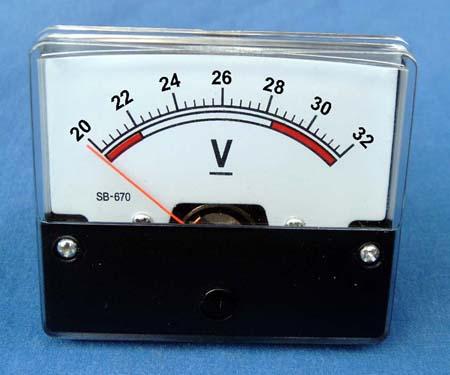Panel Meter – Analog SB-670V 20-32V DC Expanded Scale